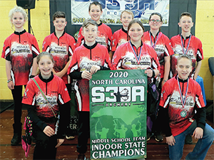 Pinnacle Classical Academy Middle School Archery Team Indoor State Championship Winners.