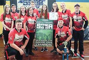 Pinnacle Classical Academy High School Archery Team Indoor State Championship Winners.