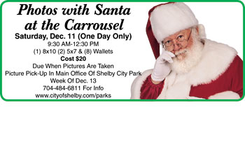 Photos with Santa at the Carrousel December 11th