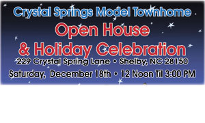 CRYSTAL SPRINGS SENIOR TOWNHOMES OPEN HOUSE