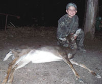 7 Year Old Bags His First Deer