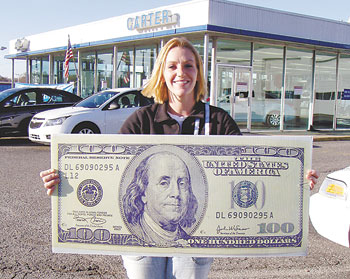 THIS WEEK'S LUCKY $100 WINNER IS WENDEE HIPP!