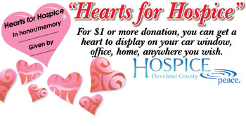 HEARTS FOR HOSPICE...