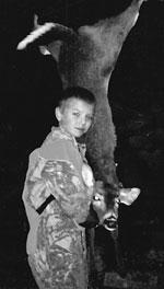 Scott Shook bags first deer!