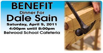 BENEFIT DINNER FOR DALE SAIN