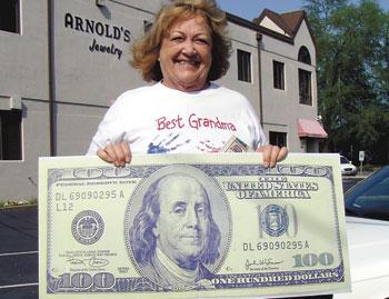 MARJORIE ROBERTS WINS $100!