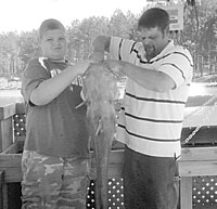 Daniel Downs Lands 32Lb. Catfish