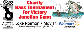BASS TOURNAMENT TO BENEFIT VICTORY JUNCTION GANG