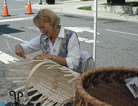 Lynn Eskridge, basket maker at Foothills Farmers Market