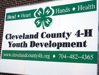 4-H of Cleveland County = Head, Heart, Hands, Health