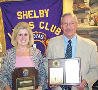 Shelby Lions Club Honors Three Members