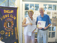 Shelby Lions Club Lion Of The Year And New Member