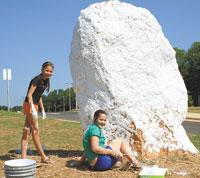 Painting the Spirit Rock...