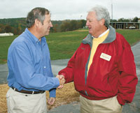 New Cleveland County  Water System Pond Dedicated