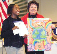 Tori Owens Winner Of Lions Club 2011 Peace Poster Contest