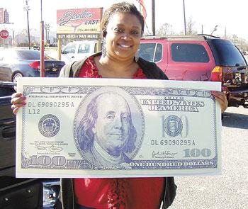 TERESA LITTLEJOHN IS THIS WEEK'S LUCKY $100 WINNER!