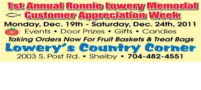 RONNIE LOWERY MEMORIAL CUSTOMER APPRECIATION