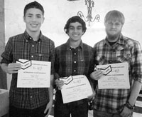 Burns Mens Soccer Banquet All Conference Honors