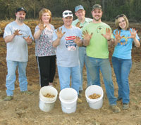 Carolina Farm Credit Shelby Service Center Participates in Cleveland County Potato Project