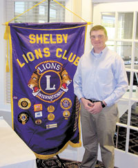 Shelby Lions Club Recognizes Willis Ledbetter Student Of  The Month