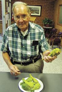Local Man Grows Colorful Squash