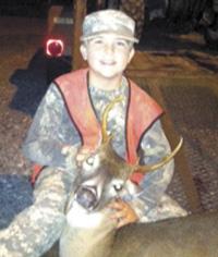 Evan Upchurch Bags First Deer!