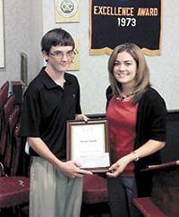 Cooper Receives Exchange Club A.C.E. Award