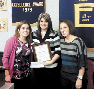 Jessica Henderson  Receives Exchange Club Ace Award