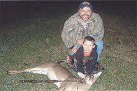 7 Year Old  Vince Jenkins Of  Kings Mtn. Gets His  First Deer