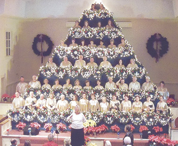 SINGING CHRISTMAS TREE AT DOUBLE SPRINGS BAPTIST CHURCH