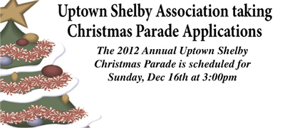 Uptwon Shelby Christmas Parade Taking Entry Applications