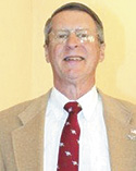 Retired Colonel Joel Rountree speaks at Ascension Lutheran