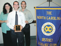 Shelby Student Receives NC Exchange Club A.C.E. Award