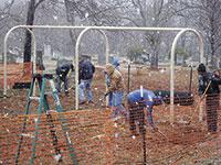 Snow Slows Work On Playground
