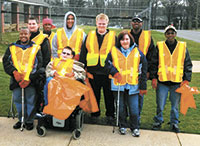 North Shelby Students Conduct Litter Sweep
