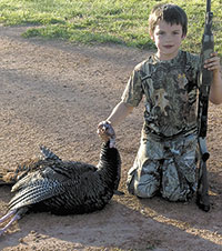 First Turkey For 8 Year Old Gunnar Weathers