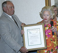 """Adelaide Craver Receives  """"The Order of the Long Leaf Pine"""""""