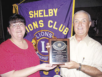 Shelby Lions Club Recognizes Lion of the Year