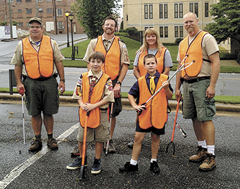 First Baptist Pack 101 Cub Scouts Pick Up Litter