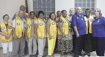 Sharon Martin receives Award from Lawndale Lions Club