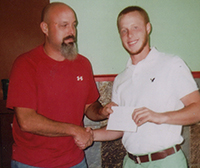 Ruritan Club Presents Clyde Hastings With Scholarship