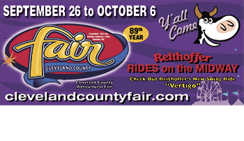 CLEVELAND COUNTY FAIR IS SEPT 26 - OCT 6