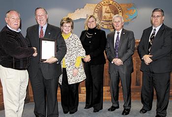 County Commissioners recognize CCC President Dr. L. Steve Thornburg