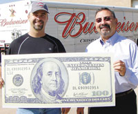 Chris Green Wins $100 in Shelby Shopper & INfo Football Contest!