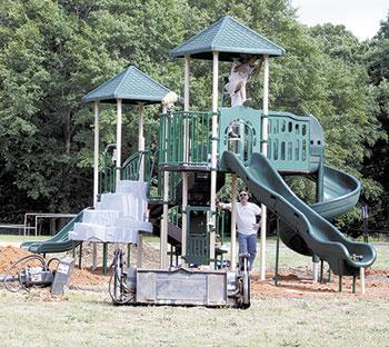 Graham Gets New Playground Equipment!