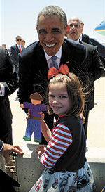 Kaitlyn and 'Flat Stanley' Meet The President