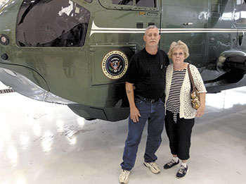Local Couple tours Marine One while on vacation...