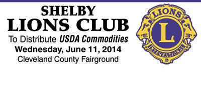 Shelby Lions Club Distributing USDA Commodities