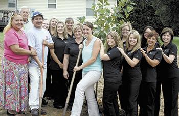 Cornerstone Dental makes donation to Habitat for Humanity