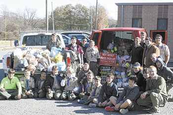 Boy Scout Food Pick-Up Benefits The Master's House